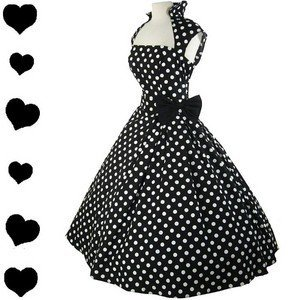 New POLKA DOT Rockabilly 50s FULL SKIRT Swing Dress S M 1X Plus Pinup PARTY Bow New POLKA DOT Rockabilly 50s FULL SKIRT Swing Dress S M 1X Plus Pinup PARTY Bow - eBay (item 300617746998 end time Nov-30-11 15:23:13 PST)