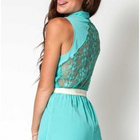 Meet Me There playsuit in seafoam green  | Show Pony Fashion online shopping