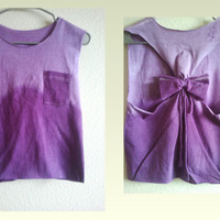 Ti-Dye T-Shirt w/ Black Bow on Back