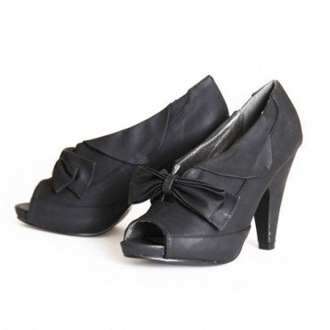 uptown girl peep toe heels in black at ShopRuche.com, Vintage Inspired Clothing, Affordable Clothes, Eco friendly Fashion