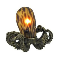 Amber Glass Octopus Accent Lamp Bronzed Base - Amazon.com