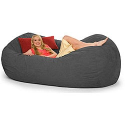 Slacker Sack 8-foot Oval Charcoal Grey Microfiber and Foam Bean Bag  | Overstock.com