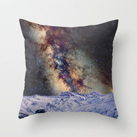 Sagitario, Scorpio and the star Antares over the hight mountains Throw Pillow by Guido Montañés | Society6
