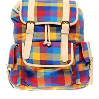 ASOS | ASOS Multi Checkm Backpack at ASOS