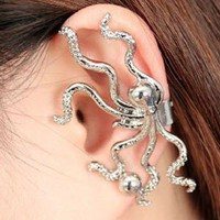 Fashion Punk Octopus Ear Clip from http://www.looback.com/