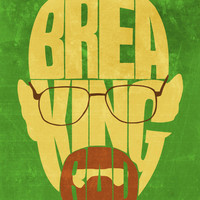 "Breaking Bad Word Art 11""x14"" Print"