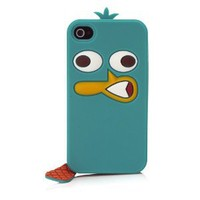 Disney IP1657 Character Suit Silicone Case for iPhone 4/4S - 1 Pack - Retail Packaging - Perry