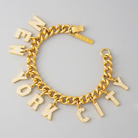 Pave New York City Charm Bracelet - Bergdorf Goodman