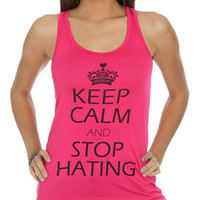 Keep Calm & Stop Tank | Shop Just Arrived at Wet Seal