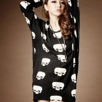 Hot Skull print shirt/dress