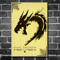 Game of Thrones retro poster minimalist art movie poster print art poster print 11x17 House Targaryen