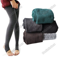 Comfortable Women&#x27;s Cotton Tights Pants Stirrup Leggings Winter Warm Hotsale New