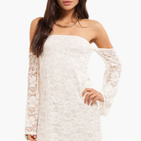 Lace Off My Shoulder Dress $33