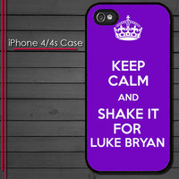 iPhone 4 Case - Keep Calm and Shake it for Luke Bryan - iPhone 4s Case - iPhone 4 cover  skin -