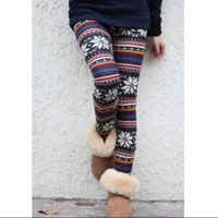 Snow Spin print legging in Multicolor