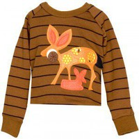 "Decaf Plush ""Deer"" Pullover Sweater"