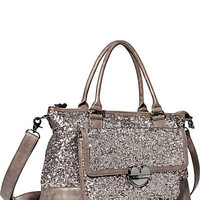BetseyJohnson.com - FAIRY DUST SATCHEL TAUPE