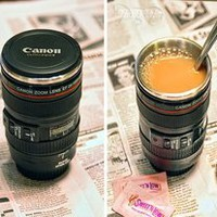 camera lens Cup with Creative camera preventing water leakage cup
