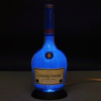 Courvoisier Cognac Bottle Lamp/ Night Light-Eco LED-Diamond Like Coated Interior/ Beautiful Sparkle and Glow~Bodacious Bottles~