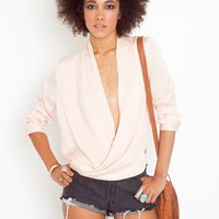 Twisted Blouse - Peach in  Clothes at Nasty Gal