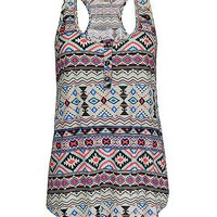 Daytrip Aztec Henley Tank Top - Women&#x27;s Shirts/Tops | Buckle