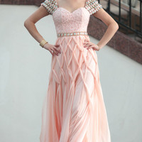 Handcraft New Design Prom Dress Pink Color 2013