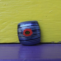 Abstract fused glass magnet