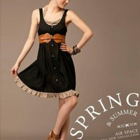 Concise Design Junior Style Black Ladies Dresses : Yoco-fashion.com