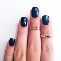 3 Above The Knuckle Gold Rings - Z .. on Luulla