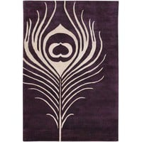 Thomas Paul Feather Rug in Plum / Cream | All Modern