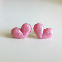 Sugar Plum Heart Earrings