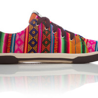 Orange Juice Low Top | INKKAS Phuyupata Shoes | Tribal &amp; Aztec Shoes | INKKAS Phuyupata Shoes | Handmade in South America