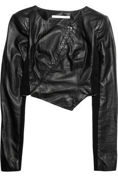 Willow|Cropped leather jacket|NET-A-PORTER.COM