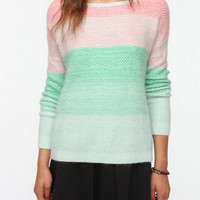 Pins and Needles Angora Ombre Stripe Sweater