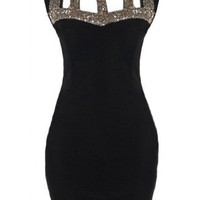 Sequin Cut Out Dress