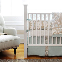 New Arrivals Crib Bedding Picket Fence