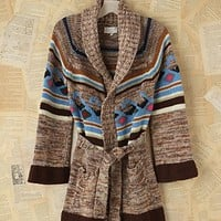 Free People Vintage Patterned Knit Cardigan