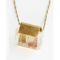 catbird::Nallik by Jean Balke::Calcite and Orchid Petal Necklace
