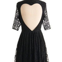 Outright Amity Dress- Lace Heart Cut Out Dress