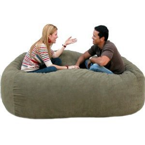 Amazon.com: 7-feet Xx-large Olive Cozy Sac Foof Bean Bag Chair Love Seat: Home & Garden