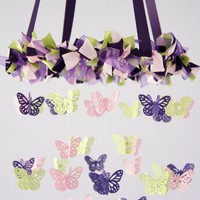 Butterfly Mobile- Purple, Pink, Gre.. on Luulla