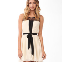 Lace & Pleated Swing Dress