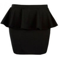Black Peplum Skirt - 29 and Under