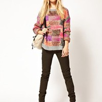 River Island Amelie Super Skinny Coloured Jean at asos.com