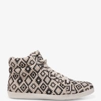 Southwestern Print Canvas Sneakers