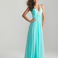 2013 New Empire Waist Beaded Strap Prom Dress Ball Gown Party Evening Dresses