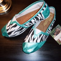 ZebraPrint TOMS Shoes by CuteHavok on Etsy