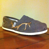 Deer Antler Tom's Shoes by AlphaxOmega on Etsy