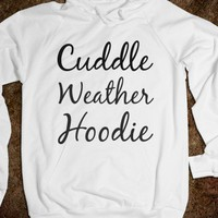 white cuddle weather hoodie - glamfoxx.com