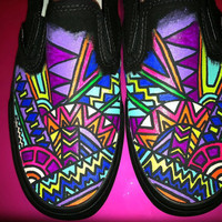 Custom Slip On Tribal Print Vans